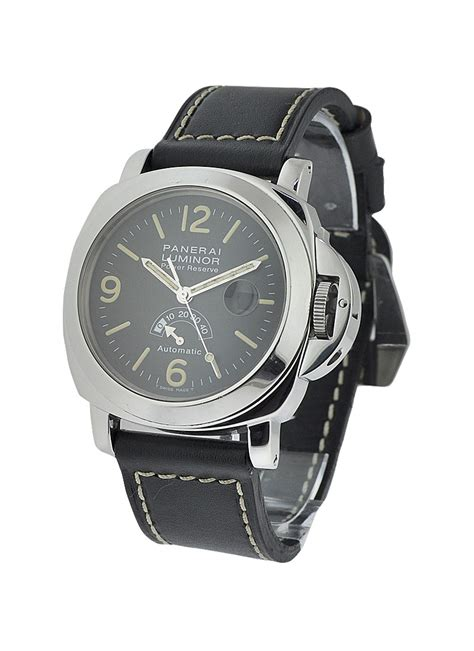 Panerai Power Reserve Silver Brown Leather Automatic pam00027b panerai vintage discontinued power reserve essential watches