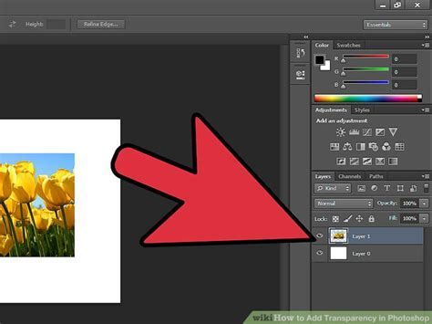 how to make a color transparent in photoshop 4 easy ways to add transparency in photoshop wikihow
