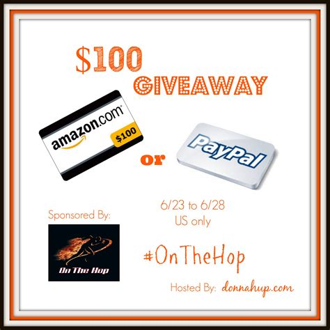 Amazon Paypal Gift Card - 100 choice of amazon or paypal gift card giveaway thrifty momma ramblings