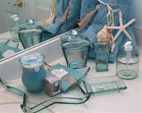 recycled glass bath accessories sea glass ocean bathroom