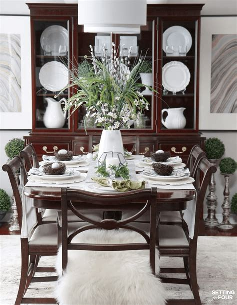 how to decorate dining room table how to decorate a dining room table for spring