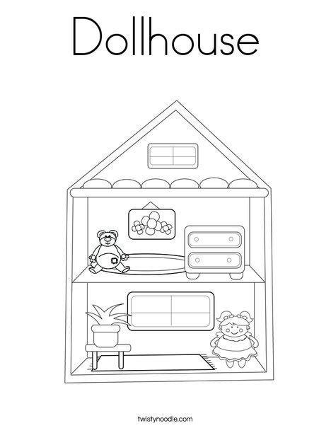 dollhouse coloring page twisty noodle