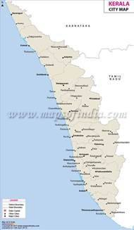 cities in kerala kerala city map