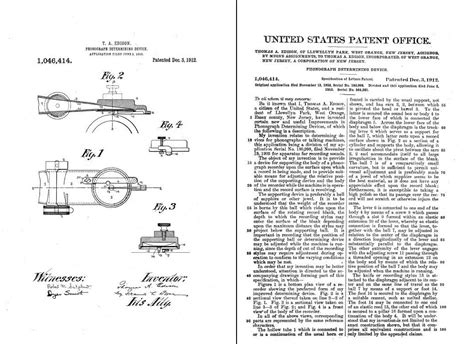What Year Did Thomas Edison Patents The Phonograph Patent Template Exle