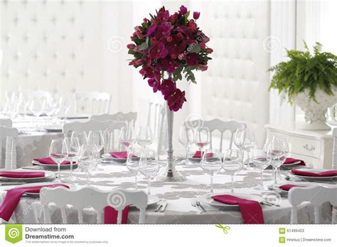wedding decoration video download beautiful flower bouquet decoration on wedding table stock