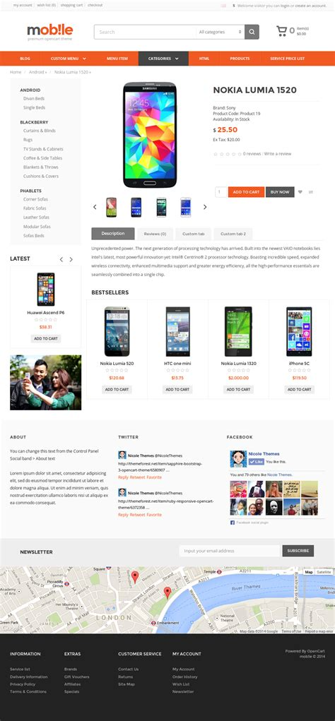 mobile themes opencart mobile opencart theme by nicole 89 themeforest