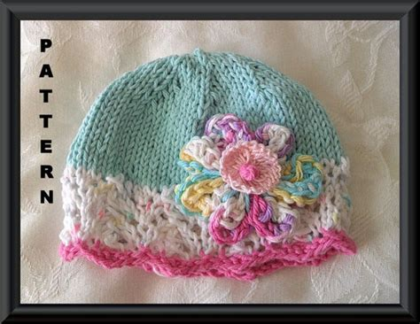 knit flower pattern for baby hat 81 best images about knitted hats on free