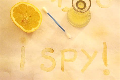 How To Make Paper Look With Lemon Juice - the story of invisible ink fms