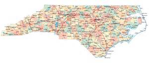 carolina state map with cities large map of carolina map