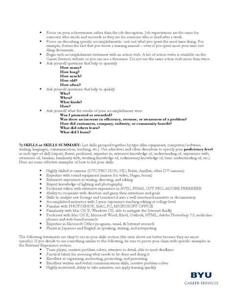 Resume Guidelines by Guidelines For A Filmmaker S Resume Free