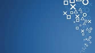 video games blue minimalistic symbol sony console