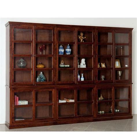 libreria in legno massello libreria maxi legno massello etnica librerie etniche