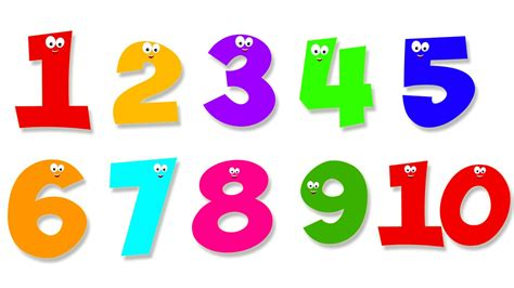 one to ten and number song numbers counting 1 to 10 ten little numbers numbers youtube