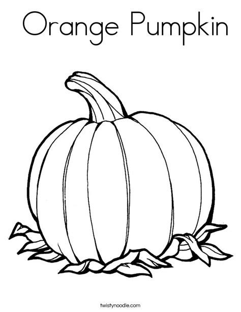 coloring pages color orange orange pumpkin coloring page twisty noodle