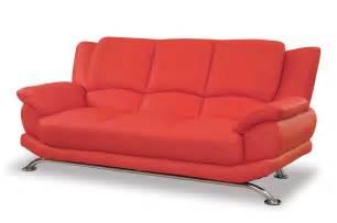 Circular red leather sleeper sofa second sun co