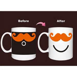 color changing coffee mug ceramic mustache cup color changing mug coffee milk cup