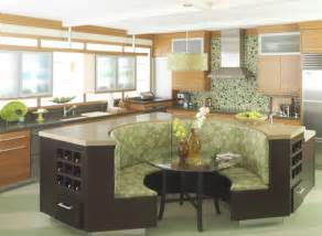 Round Kitchen Island With Seating The Banquette In The Kitchen