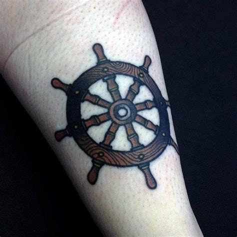 small ship tattoo designs 70 ship wheel designs for a meaningful voyage