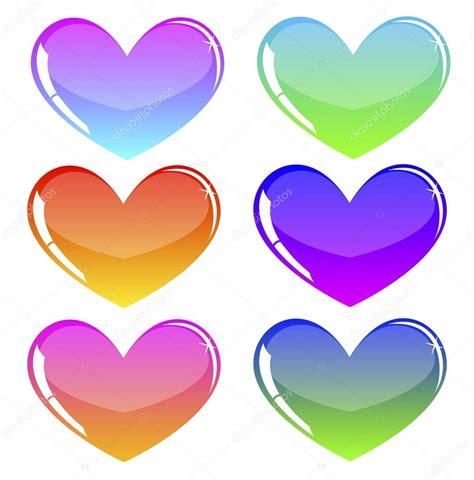 imagenes de corazones jpg corazones de colores vector de stock 169 vlada13 20942973