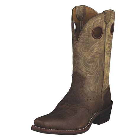 ariat mens boots square toe ariat mens heritage roughstock square toe boots