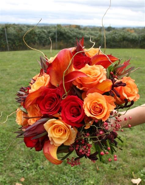 Stunning Wedding Pictures by Picture Of Stunning Fall Wedding Bouquets