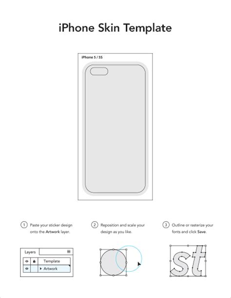 iphone 5 sticker template iphone skin templates sticker mule