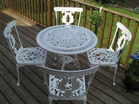 Sandblasting Patio Furniture by Burlington Powder Coater Powdercoating In Burlington