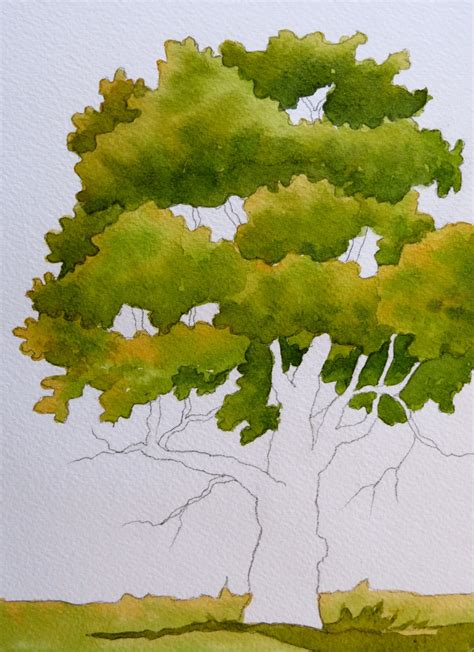 tutorial watercolor trees the painted prism 5 watercolor techniques for trees