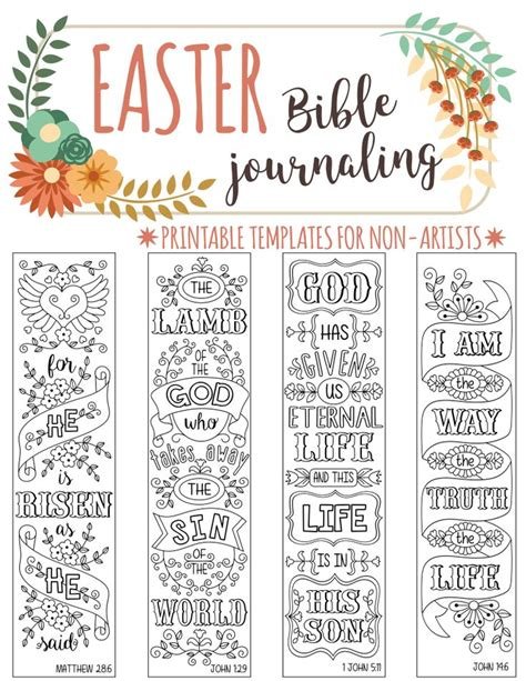 printable religious easter bookmarks 135 best images about templates for bible journaling on