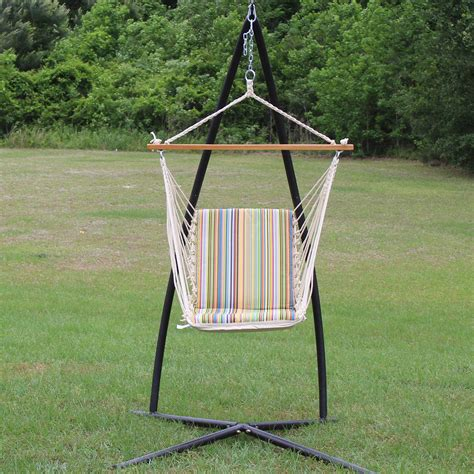big w swing chair single cushioned swing big sur stripe sw7006