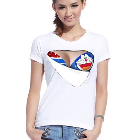 Kaos T Shirt Baju Doraemon 26 aliexpress buy summer sleeved character t shirt o neck t shirt bra 3d