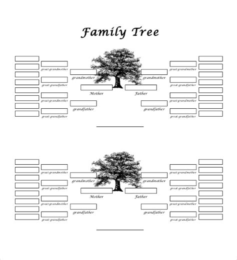 4 generation family tree template free 51 family tree templates free sle exle format