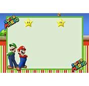 Invitaci&243nes De Mario Bros Gratis Para Imprimir  Imagui