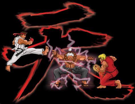 Fighter Akuma Black akuma vs ryu wallpaper wallpapersafari