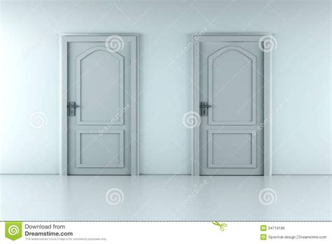 Two Door by Two Doors Royalty Free Stock Image Image 34719196