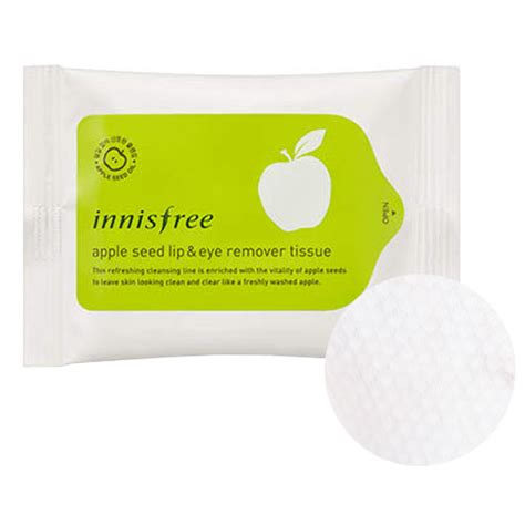 Innisfree Apple Seed Cleansing Tissue innisfree apple seed lip eye remover tissue 30 sheets innisfree cleansing tissue