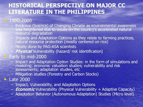 Global Warming Review Of Literature by Climate Change And Coastal Management A Literature Review