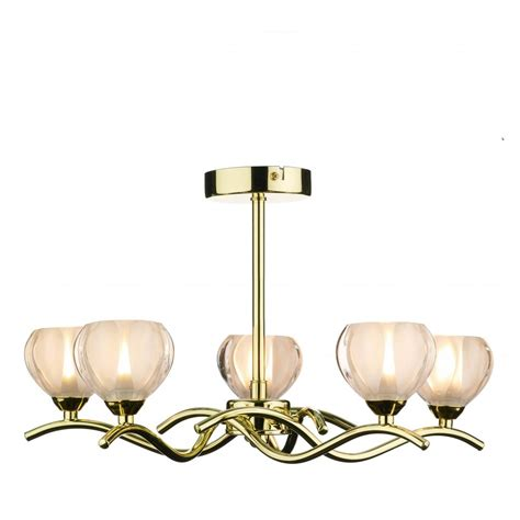 Brass Ceiling Lights Modern Cyn0540 Cynthia 5 Light Modern Ceiling Light Polished Brass Opal Glass