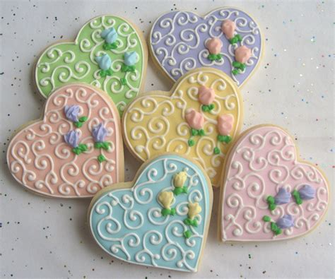 Decorated Cookies by Decorated Cookie Favors Wedding