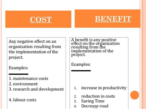 cost benefit and cost effective analysis