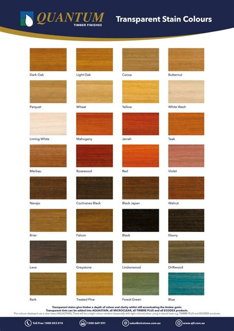 with color colours quantum timber finishes