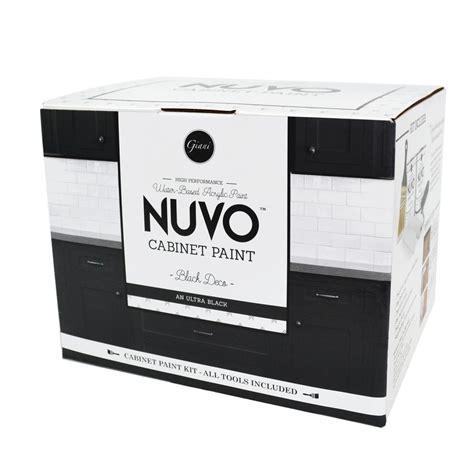 nuvo cabinet paint white nuvo 2 qt black deco cabinet paint kit fg nu blck ki r