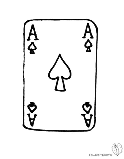 Coloring Page Of Ace For Coloring For Kids Sketchue Com Cards Coloring