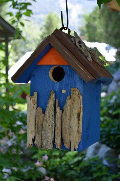 Handmade Wooden Bird Houses - birdhouses handmade woodworking wood blue bird house