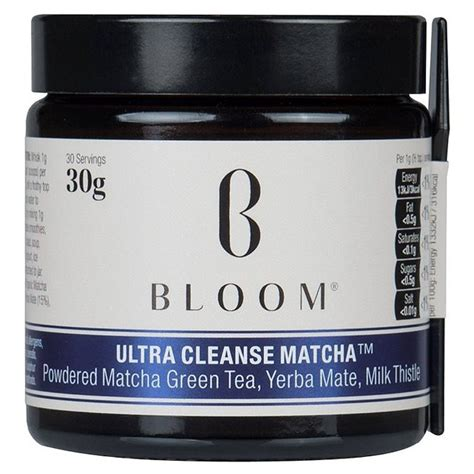 Blooms Detox Tea Review by Bloom Ultra Cleanse Matcha 30g From Ocado