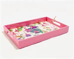 michel design decoupage wooden vanity tray fuchsia renio
