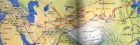 silk road map silk road links