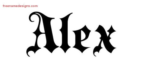 tattoo ideas for the name alex alex name www pixshark com images galleries with a bite