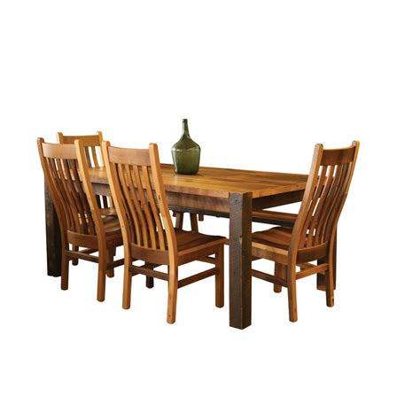 Timber Dining Chairs Barnwood Timber Ridge Dining Table Amish Crafted Furniture
