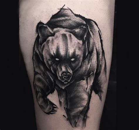 bear tattoos meaning ink vivo